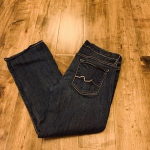 7 For all Mankind crop flare size 28
